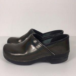 Dansko Sparkle Metallic Clog Shoes